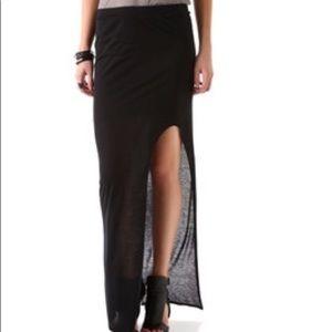 NWT Helmut Lang Side Slit Maxi Skirt